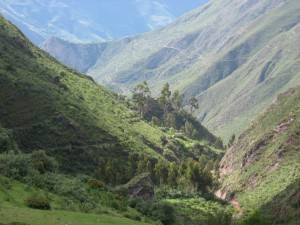 Looking down at Inca Raccay