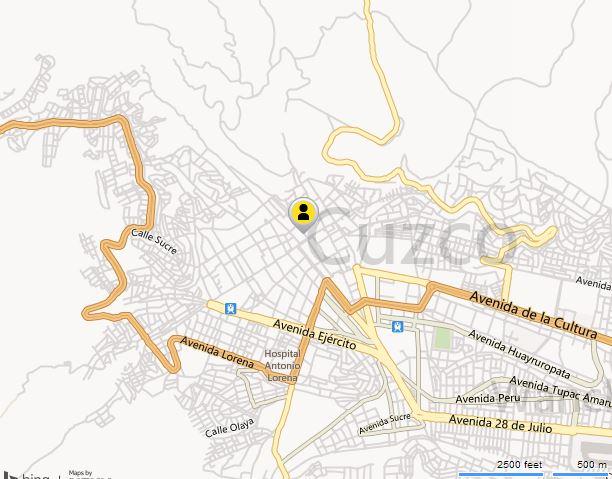 map of Cusco, Cusco Map