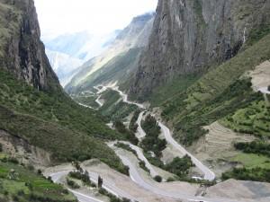 Mountain biking the Inca Downhill in Peru
