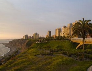 The Pacific coast in Miraflores - Lima, Peru