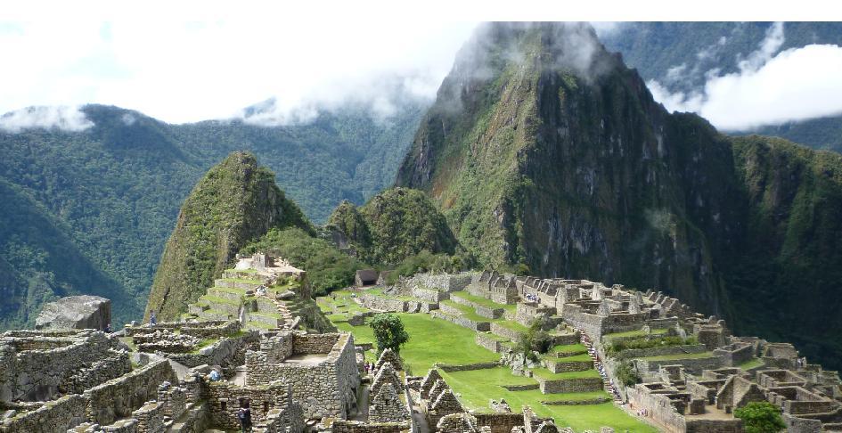 Huayna Picchu and Machu Picchu mountain in Peru