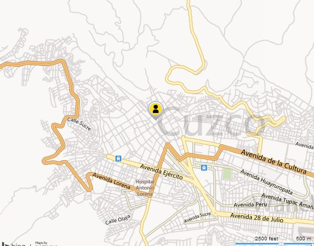 map of Cusco, Cusco Map